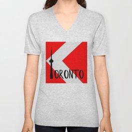 Toronto Red Unisex V-Neck