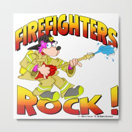 FIREFIGHTERS 65 HALFTONES Metal Print