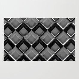Abstract black and white geometric pattern . Rug