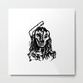 Hockey Mask Vigilante Metal Print