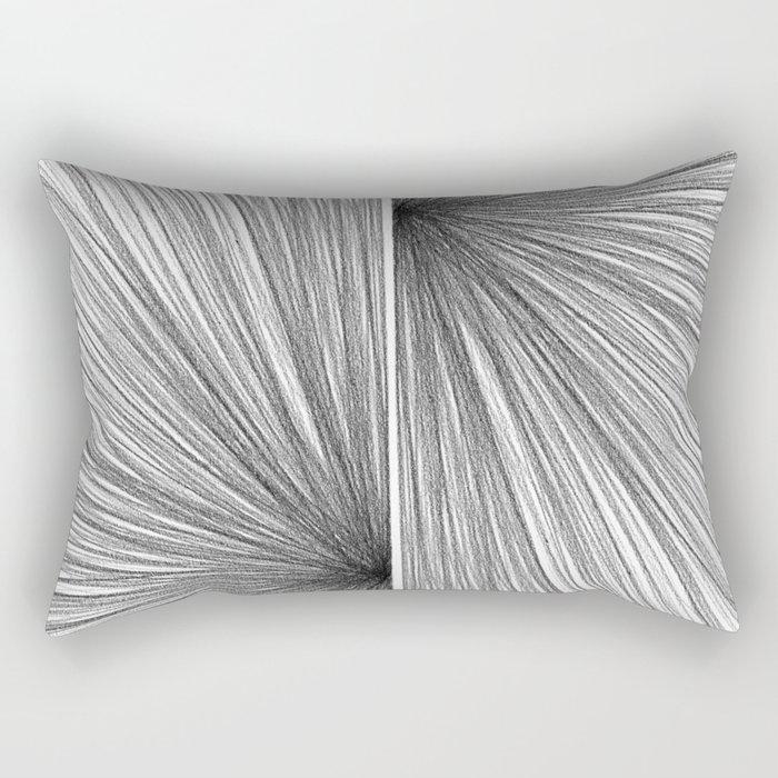 Mid Century Modern Geometric Abstract Radiating Lines Rectangular Pillow
