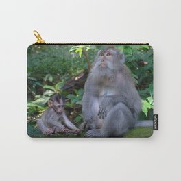 Mother and child macaques - Greg Katz Carry-All Pouch