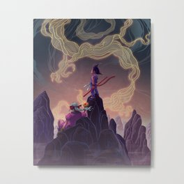 Dragonball - The Journey Begins Metal Print