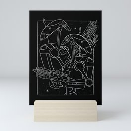 """Battle Droids - White"" by Maggie Stephenson Mini Art Print"