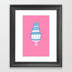 CAKE PINK Framed Art Print