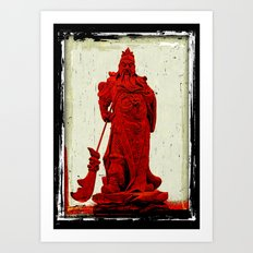 General's Red Rage Art Print