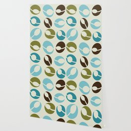 Mid-Century Modern Martini (teal) Wallpaper