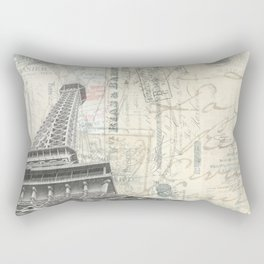 Love Letters from Paris Wide Version Rectangular Pillow