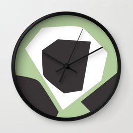Grow Into Green - Minimal Geometric Abstract Wall Clock