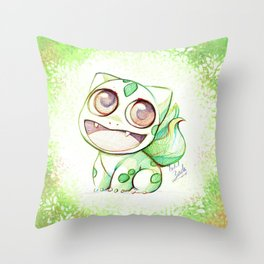 Cute Little Bulba  Throw Pillow