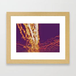 City (Light)s (Graffiti) 4 Framed Art Print