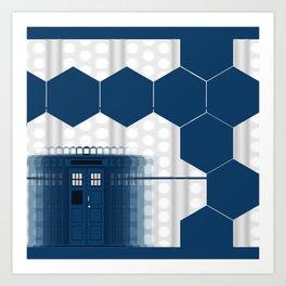 Tardis Shadow Blue Box Art Print