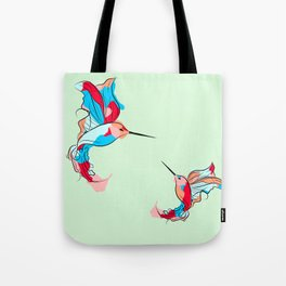Two Little Hummingbirds Tote Bag