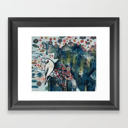 city bird Framed Art Print