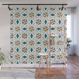 Geometric Pattern, oriental style (nature color set)  traditional morocco tile pattern Wall Mural