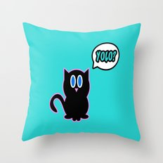 Yolo? Throw Pillow
