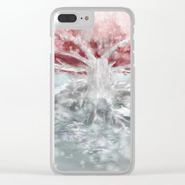 The Old -Tree in the Snow Clear iPhone Case