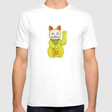 Occupy Lucky Cat Mens Fitted Tee White MEDIUM