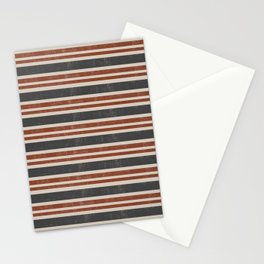 Orange grey retro Stationery Cards