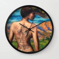 goddess Wall Clocks featuring Goddess by Artist Andrea