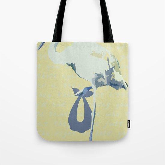 Baby Mine - cornflower blue/canary yellow Tote Bag