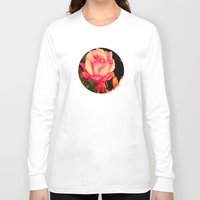 rare Long Sleeve T-shirts featuring Rare Rose  by Ambers Vintage Find