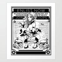 propaganda Art Prints featuring Stormtrooper Propaganda by chokidokii