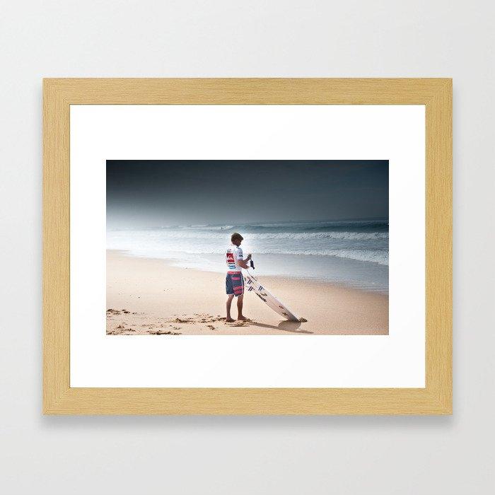 Pro Surfer Kolohe Andino Framed Art Print