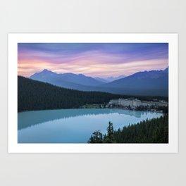 Lake Louise Sunset Art Print