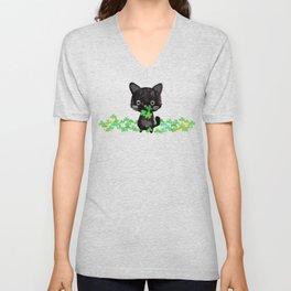 The Luckiest Cat Unisex V-Neck