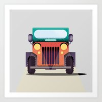 jeep Art Prints featuring Jeep by il Cane