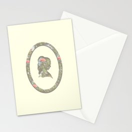 floral silhouette Stationery Cards