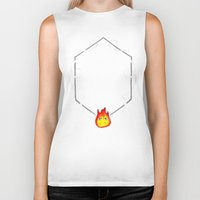 calcifer Biker Tanks featuring May All Your Bacon Burn by BiteMeFox
