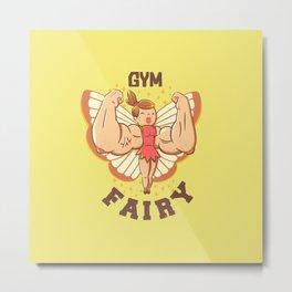 Gym Fairy Metal Print