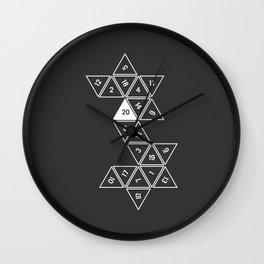 Unrolled D20 Wall Clock