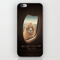 airplane iPhone & iPod Skins featuring QUÈ PASA? by Monika Strigel
