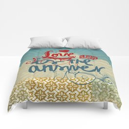 Love is the answer Comforters