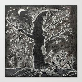 La noche en la Tijuana Canvas Print
