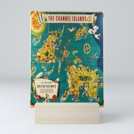 vintage Plakat Channel Islands Guernsey Alderney Sark Jersey British Railways Mini Art Print
