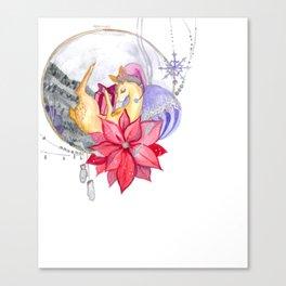 Merry Christmas, Deer Canvas Print