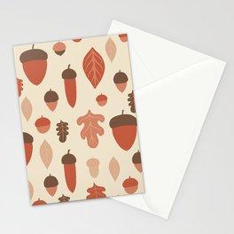 Acorns 4 Stationery Cards
