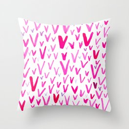 Painted V Throw Pillow
