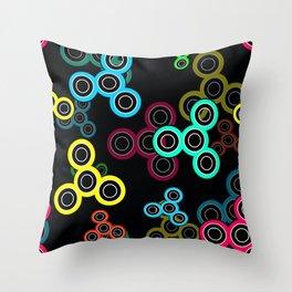 Spinner kids fun toy fidget spinner hand spinner Throw Pillow