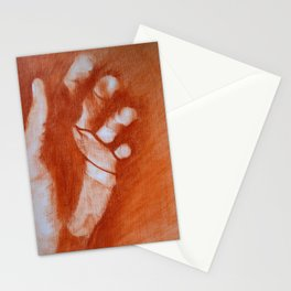 The writing on my father's hand Stationery Cards