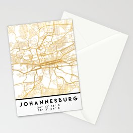 JOHANNESBURG SOUTH AFRICA CITY STREET MAP ART Stationery Cards