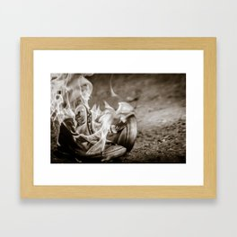 Those shoes are on fire... Framed Art Print