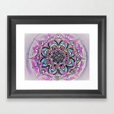 Peacock Mandala Framed Art Print