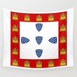 Old Portuguese flag Wall Tapestry