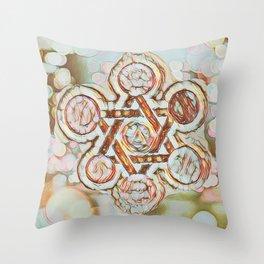 Rose Gold Star of David Throw Pillow
