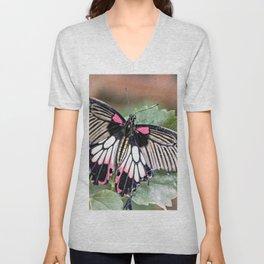 Majestic Tropical Butterfly Unisex V-Neck